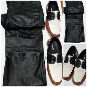 Man bundle BCBG leather pant & Madden shoe